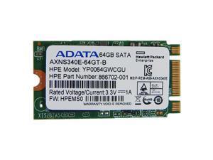 HP ADATA 64GB 6G SATA M.2 2242 SSD Drive 866702-001 AXNS340E-64GT-B