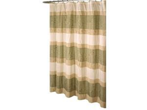 excell home fashions wasabi fabric shower curtain, sage