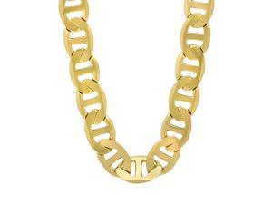 d2ec9e79e3e03 U7 18K Gold Plated Chain Men Summer Jewelry 6MM Unique Snake Chain Necklace  18 Inch - Newegg.com