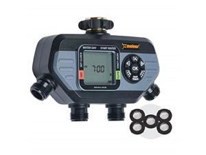 melnor 65038amz hydrologic 4zone digital water timer with 5 stainless steel filter washers set,  bundle