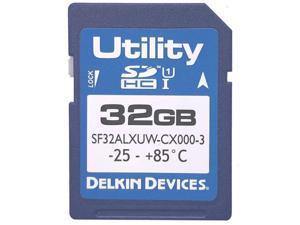 Delkin SF32ALXUW-CX000-3 CRC 32GB 9p SDHC r27MB/s w21MB/s Class 10 UHS-I MLC Utility Secure Digital High Capacity Card bulk