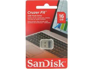 SanDisk Cruzer Fit 16GB USB 2.0 Flash Drive 128bit AES Encryption Model SDCZ33-016G-G35