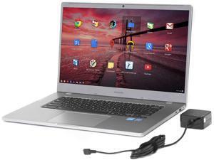 """Samsung 4+ (XE350XBA-K05US) Chromebook, 15.6"""" FHD Display, Intel Celeron N4000 Up to 2.6GHz, 4GB RAM, 128GB eMMC, Card Reader, Wi-Fi, Bluetooth"""