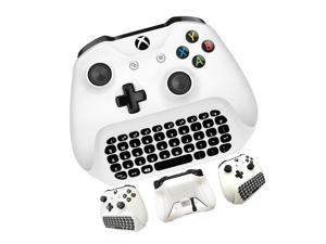 OSTENT 2.4G Wireless Chat Gamepad Keyboard with Headset Audio for Microsoft Xbox One/S/X Controller