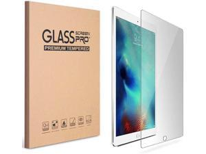 iPad 9.7 6th Gen Screen Protector, [2 Pack] Anti-Scratch Tempered Glass Bubble-Free Self-Adhere Screen Protector for Apple iPad 9.7 (6th Generation)