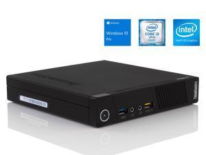Lenovo ThinkCentre M93p Tiny Desktop, Intel Dual-Core i5-4570T Upto 3.6GHz, 8GB RAM, 256GB SSD, DisplayPort, HDMI, VGA, LAN, Wi-Fi, Windows 10 Pro