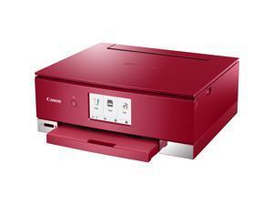 Canon PIXMA TS8220 (2987C042) Duplex 4800 DPI x 1200 DPI Wireless/USB Color Inkjet All-In-One Printer - Red