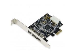 Syba SY-PEX30016 2 Port Firewire 1394B and 1 Port 1394A PCI-e 1.1 x1 Card
