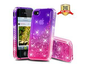 9c4df7e03 iPhone 4S Case, iPhone 4S Girly Cases with HD Screen Protector, Atump Fun  Glitter