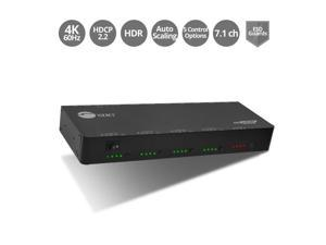 Siig CE-H24W11-S1 4 x 4 HDMI 2.0 4K HDR Matrix Switch with Cloud Control