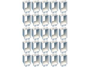 Arlington BE1-25 Electrical Outlet Box Extender, 1-Gang, White, 25-Pack