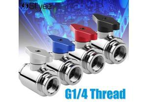 Aluminum Handlle Water Cooling Valve Fitting G1/4 Thread Dual Inner Teeth for PC Water Cooling Water Ball Valve Waterway Control