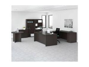 Lorell LLRPMC4814ES Prominence 2.0 Series Laminate Desking, Espresso - 47.25 x 11.88 x 12 in.