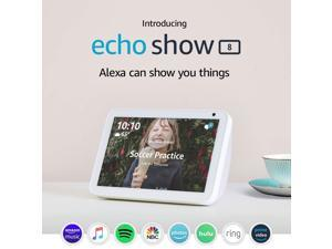 "Amazon Echo Show 8 Smart Speaker with Alexa 8"" HD Smart Display - White"