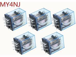 5pcs general purpose relay MY2 DPDT 8 pins MY2NJ relais 12v 24v 110v 220v relay switch