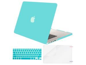 MOSISO Case Only Compatible MacBook Pro (W/O USB-C) Retina 13 Inch (A1502/A1425)(W/O CD-ROM) Release 2015/2014/2013/end 2012 Plastic Hard Shell & Keyboard Cover & Screen Protector, Turquoise
