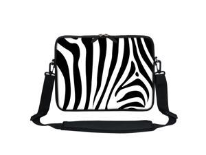 Colorful Zebra Laptop Case 13 Inch Carrying Case with Strap