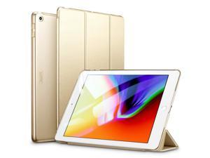 ESR iPad 9.7 2018/2017 Case, Lightweight Smart Case Trifold Stand with Auto Sleep/Wake Function, Microfiber Lining, Hard Back Cover Compatible for The Apple iPad 9.7 iPad 5th / 6th,Champagne Gold