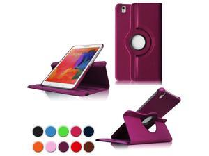 """PT Ultra Slim Lightweight Smart-Shell Rotating Leather Stand Protective Cover Case For Samsung Galaxy Tab Pro 8.4"""" inch Android Tablet SM-T320/T325/T321(Will NOT Fit Tab Pro S 8.4) (Purple)"""
