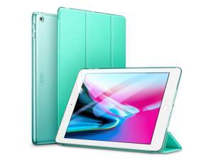 ESR iPad 9.7 2018/2017 Case, Lightweight Smart Case Trifold Stand with Auto Sleep/Wake Function, Microfiber Lining, Hard Back Cover Compatible for The Apple iPad 9.7 iPad 5th / 6th Gen,Mint Green