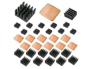 Lanpu 30 PCS Raspberry Pi Heatsink Kit Copper Raspberry Pi Aluminum Heatsink for cooling cooler Raspberry Pi 3, Pi 2, Pi Model B+