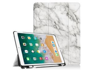 New iPad 9 7 2018 6th Generation Case/iPad Pro 9 7 Case with Apple Pencil  Holder, Wonzir Slim Lightweight Stand Protective Cover with Auto Wake/Sleep