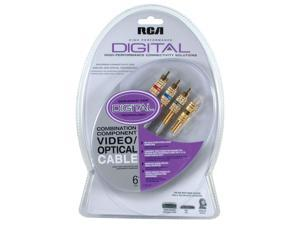 RCA DT6CHP Digital Combination Component Video & Optical Cable (6 FT) (Discontinued by Manufacturer)