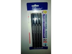 Staedtler Lumocolor Permanent Pen 318-9 Fine 0.6mm Line - Black (Pack of 4)