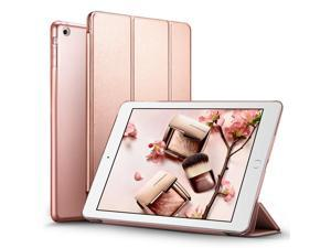iPad Mini 2 Case, ESR iPad Mini Smart Case Cover [Synthetic Leather] Translucent Frosted Back Magnetic Cover with Sleep/Wake Function [Light Weight] for iPad Mini 1/2/3 (Rose Gold)