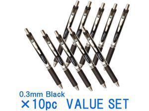 Pentel New EnerGel Deluxe RTX Retractable Liquid Gel Pen,Ultra Micro Point 0.3mm, Fine Line, Needle Tip, Black Ink Value set of 10 (With Our Shop Original Product Description) …