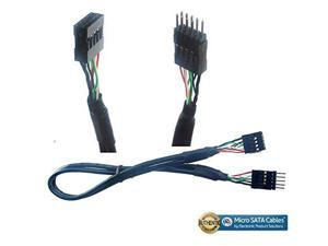Micro SATA Cables USB 20 10 Pin Male to Female Internal Motherboard Extension Cable - 16 Inches