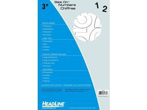 Headline Sign 31332 Stick-On Vinyl Numbers, White, 3-Inch
