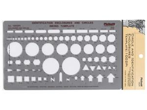 Pickett Circle and Identification Enclosures Template, Includes Circles, Squares, Rectangles and More (1002PI)