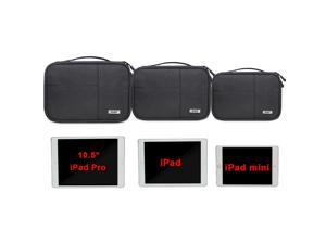 BUBM Electronic Organizer, Double Layer Electronic Bag for Cables, Plugs, External Hard Drive and Other Electronic Accessories (3 Pack/Black)