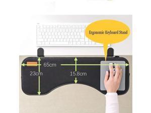 Ergonomic Desk Extender Clamp On Keyboard Tray Under Desk Adjustable Mouse and Keyboard Tilted Tray Table Mount Armrest Shelf Stand Slide Computer Elbow Arm Support