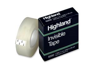 Highland 6200 Invisible Tape, 0.75 Inch x 36 Yards, Matte