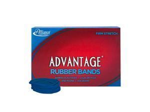 "Alliance Rubber 54325 Advantage Rubber Bands Size #32, 1 lb Box Contains Approx. 675 Bands (3"" x 1/8"", Blue)"