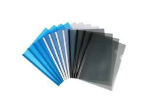 Eagle Plastic Clear Sliding Bar File Folder, Report Cover, Portfolio Folder, Letter Size, 12 Counts, Assorted Colors