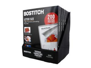 Bostitch Thermal Laminating Pouches 8.5 in x 11 in, 3 mil - 200 pk.
