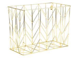 U Brands Hanging File Desk Organizer, Wire Metal, Gold