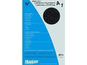 """HEADLINE 31214 PRESS ON STICK ON VINYL LETTERS /& NUMBERS BLUE 2/"""""""