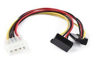 8inch GC8ATA22 4Pin Molex to 2x15pin 90 Degree SATA Power Cable