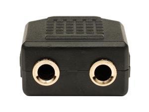 4Xem 3.5Mm Mini Jack Headphone Splitter Black