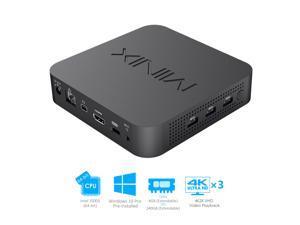 MINIX new intel small desktop mini J50C-4 Max Intel J5005/ Windows 10 Pro/8GB DDR4/240GB SSD/Dual-Band Wi-Fi/Gigabit Ethernet/4K @ 60Hz/Triple Display/USB-C/Auto Power On/Vesa Mount]