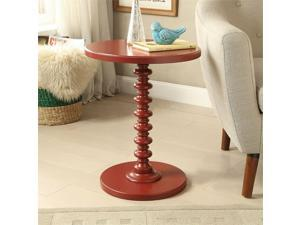 ACME Acton End Table in Red