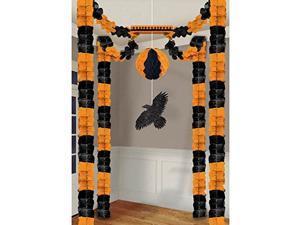 Amscan 249472 Raven All-In-One Tissue Paper 1 kit Halloween Decorating Kit