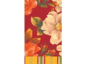 """Red Classic Floral Hand Towels   16 Ct.   4"""" x 7"""""""