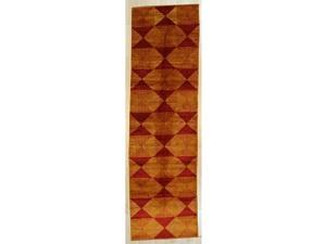 EORC Handmade Afghan Wool Red Trasitional All Over Turkish Knot Rug, 210 x 9 10
