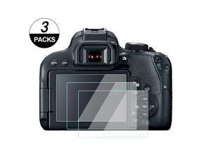 """3/"""" 3 Pack Camera LCD Screen Protector Film For CANON EOS 800D"""