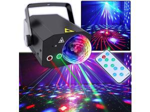 Party Lights, Disco Ball Lights TONGK Dj Disco Lights, LED Stage Light Projector Strobe Lights Sound Activated with Remote Control for Xmas Club Bar Parties Holiday Dance Christmas Birthday Wedding